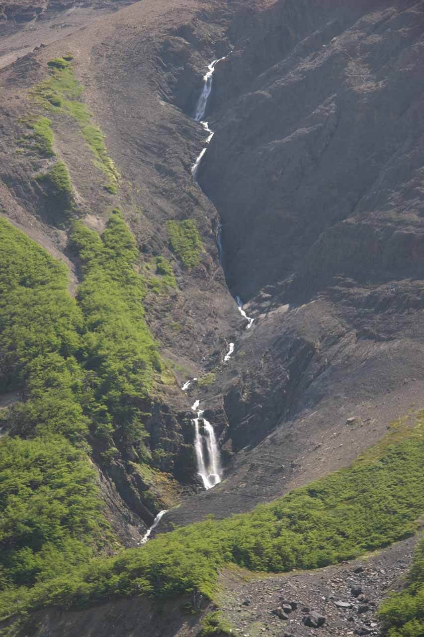 A cascade en route to Mirador de Las Torres del Paine