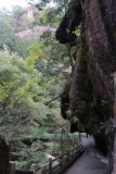 Senga_Falls_043_10172016 - Walking beneath some scary-looking overhanging cliffs within the Shosenkyo Gorge