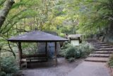 Senga_Falls_060_10172016 - Looking back at a rest or picnic shelter along the walkway within the Shosenkyo Gorge