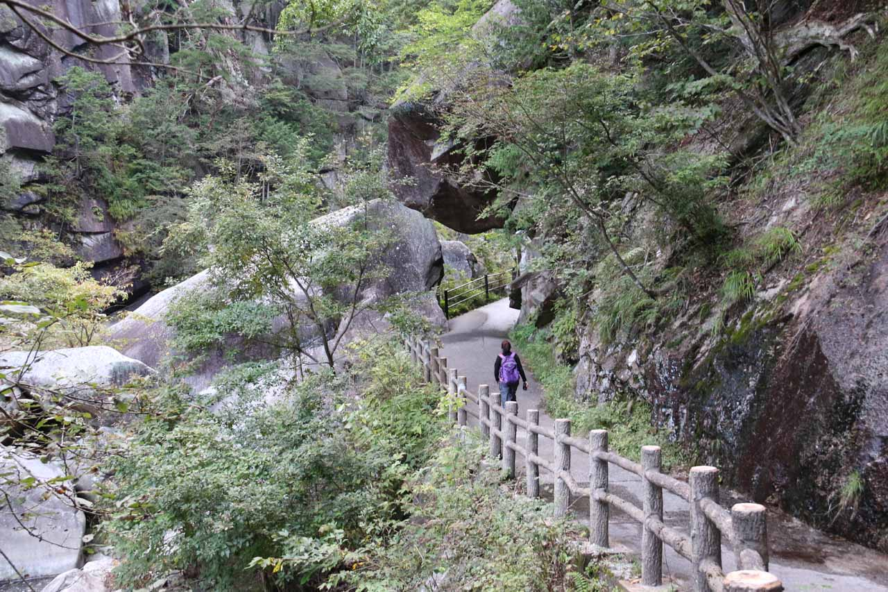 Here's a look at the somewhat developed trail through the Shosenkyo Gorge
