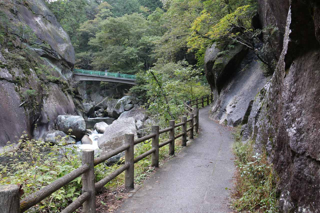Almost back at the bridge traversing the Arakawa River and taking us to the view of the Senga Falls