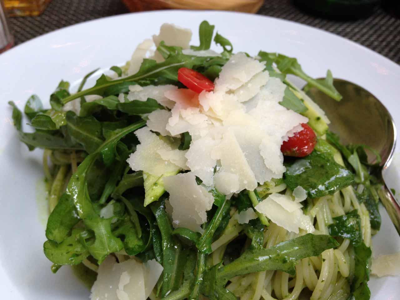 Julie's pesto pasta