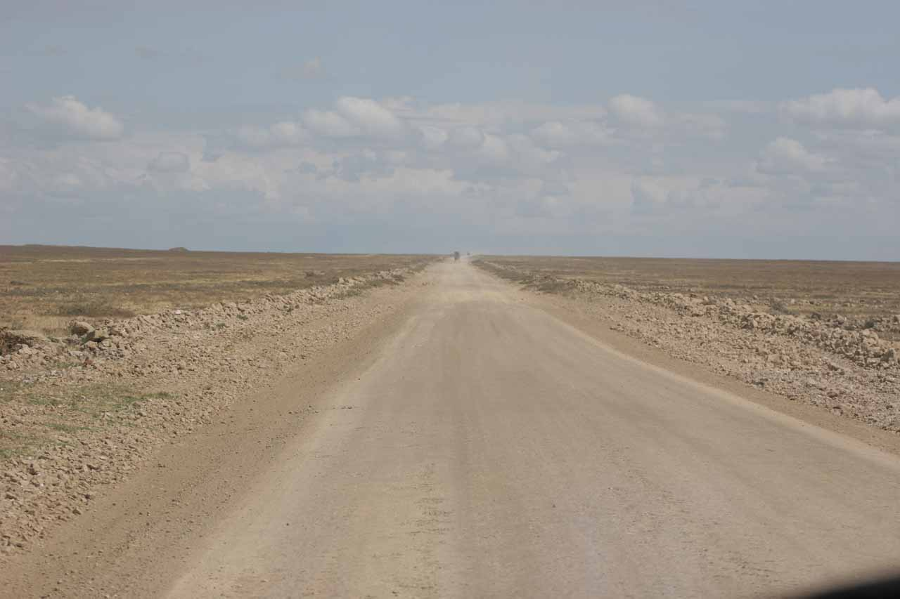Passing through the vast Serengeti Plains