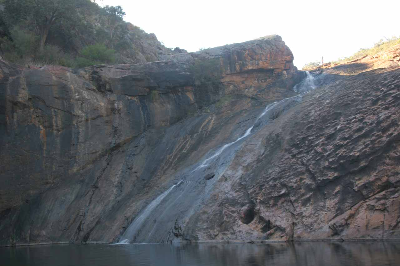 Closer look at the twisting Serpentine Falls