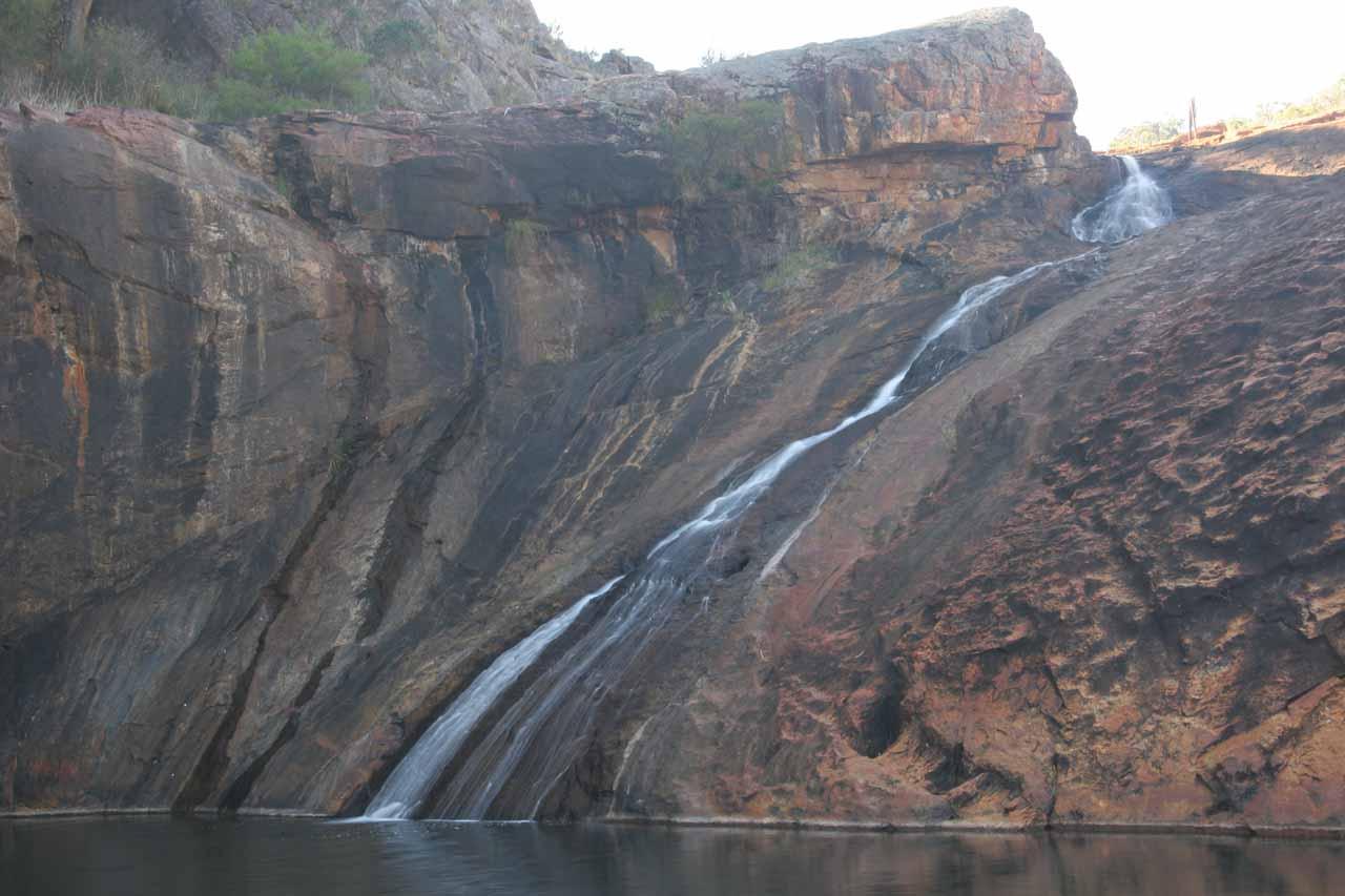 Serpentine Falls in low flow