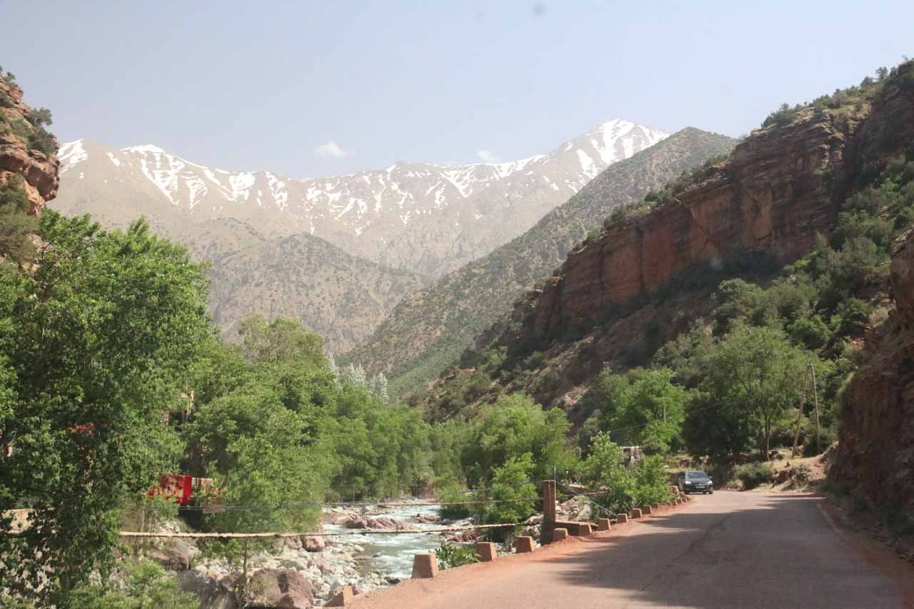 Within the scenic Ourika Valley as we were getting closer to the Setti Fatma Village