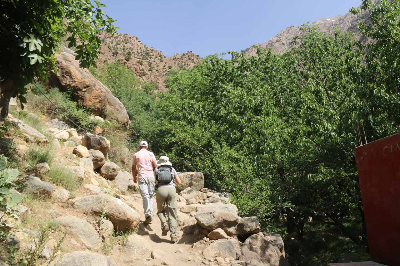 Starting the hike up towards the Setti Fatma waterfalls