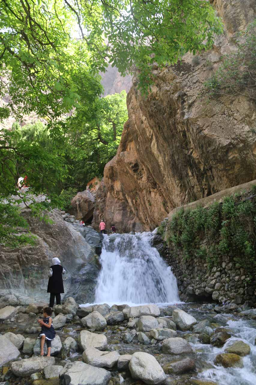 One of the small cascades seen en route to the Setti Fatma Waterfalls