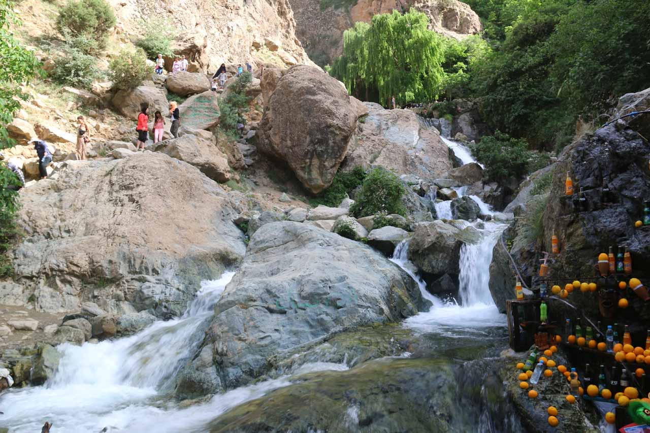 Another series of cascades near a souk seen en route to the Setti Fatma Waterfalls