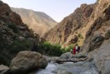 Setti_Fatma_068_05162015 - Looking back from the cafe towards the last bridge before the first Setti Fatma waterfall as well as the contours of Ourika Valley