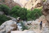 Setti_Fatma_180_05162015 - Julie making the rocky downhill hike as we left the Setti Fatma Waterfalls and headed back to the Setti Fatma village way down below