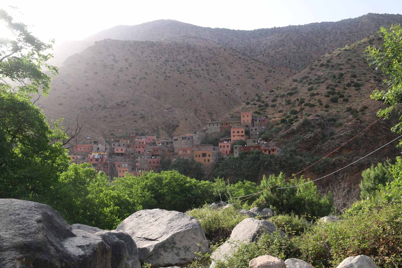 Almost back at the Setti Fatma Village
