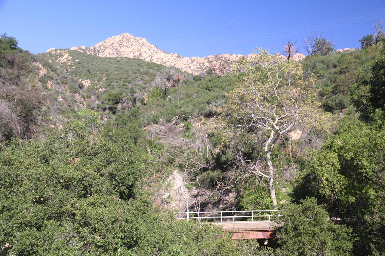 Approaching the bridge over Mission Creek