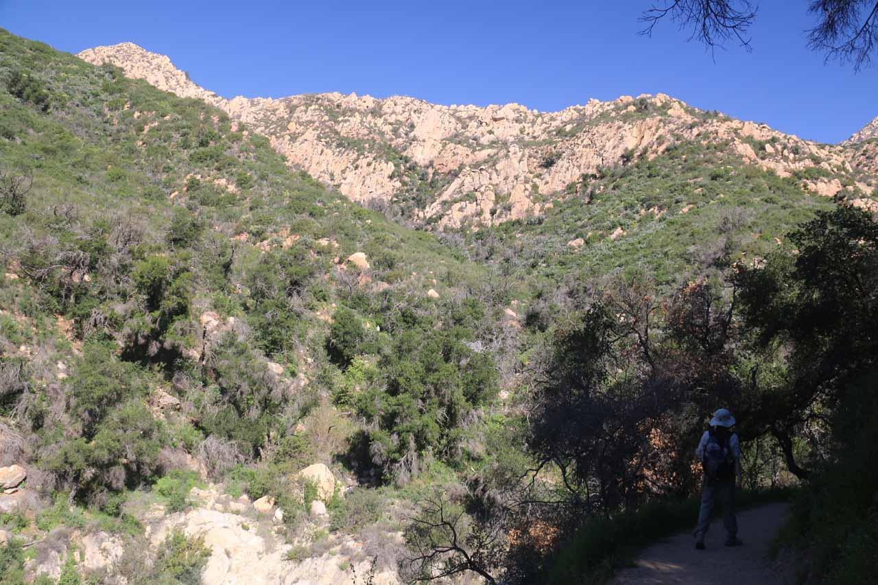 Hiking towards Mission Creek