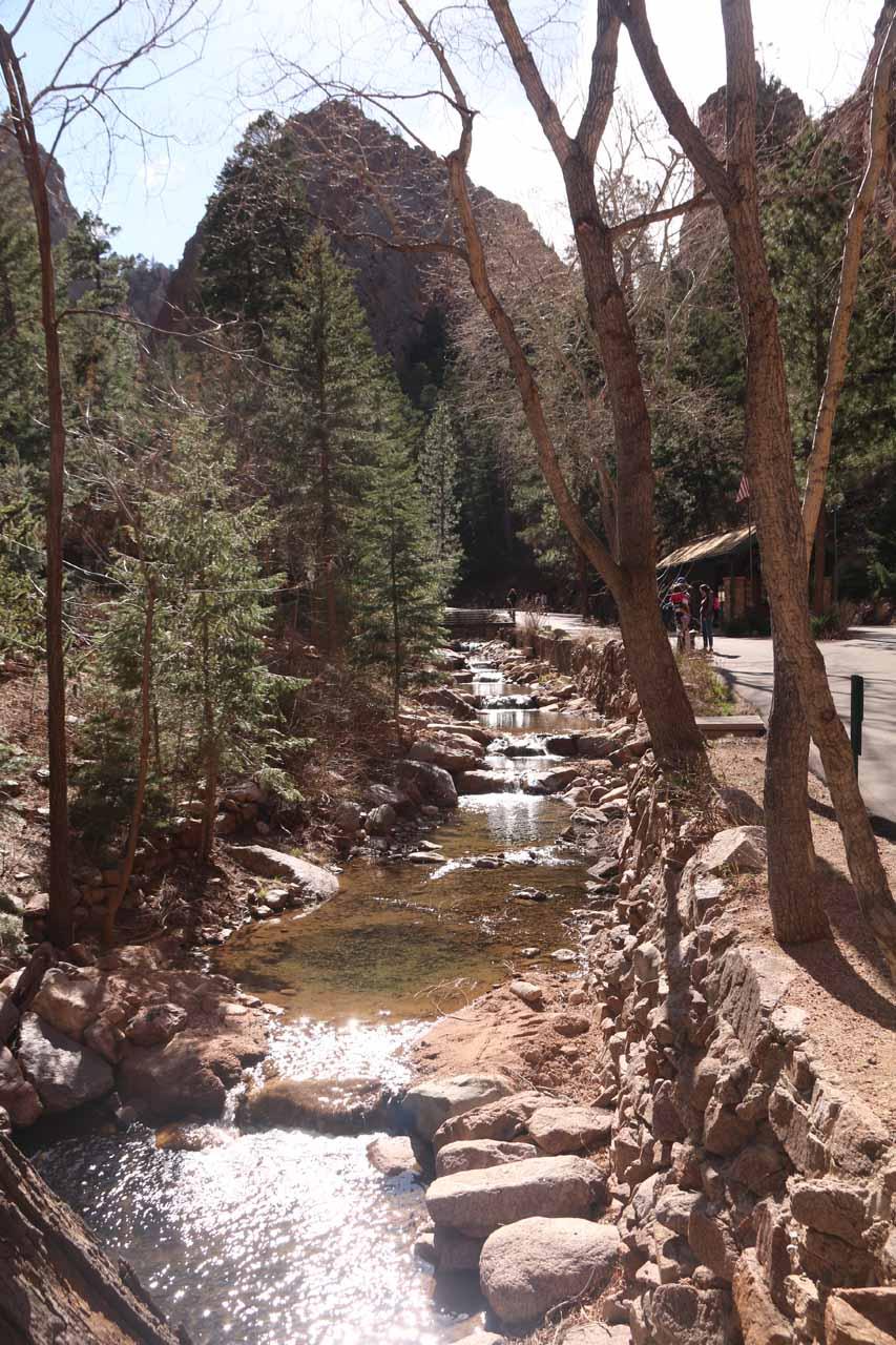 The paved road followed alongside South Cheyenne Creek