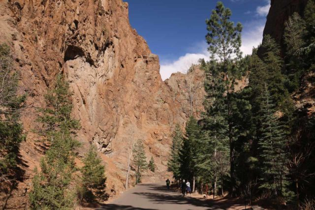 Seven_Falls_CO_019_03232017 - The paved pedestrian and shuttle-only road within South Cheyenne Canyon - part of the 'Grandest Mile of Scenery in Colorado'