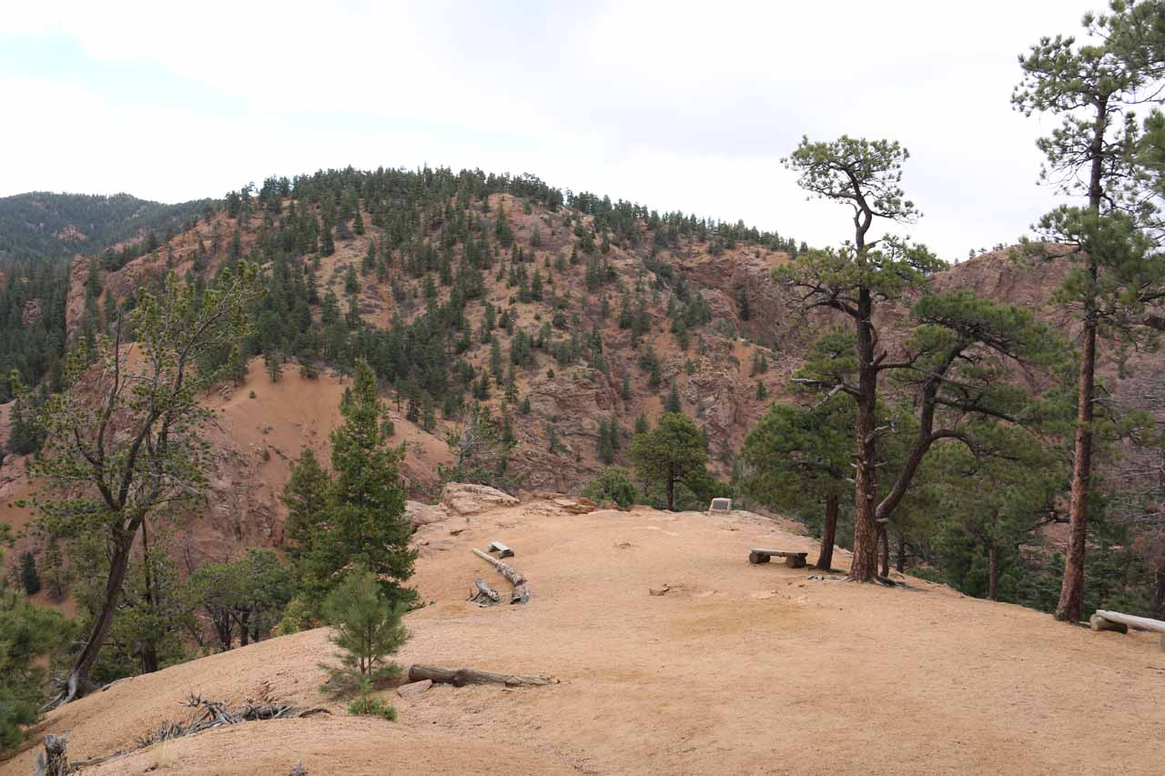 Descending towards the Helen Hunt Jackson Inspiration Point