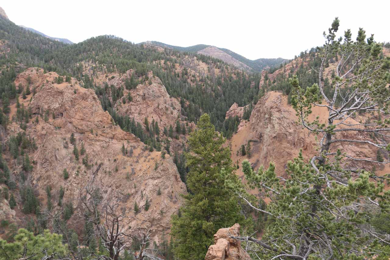 Looking across South Cheyenne Canyon from Inspiration Point