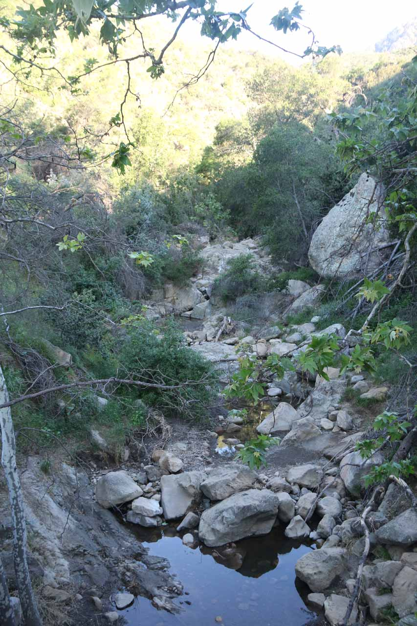 Water in Mission Creek, which was a good sign this time around as opposed to our hike in 2015