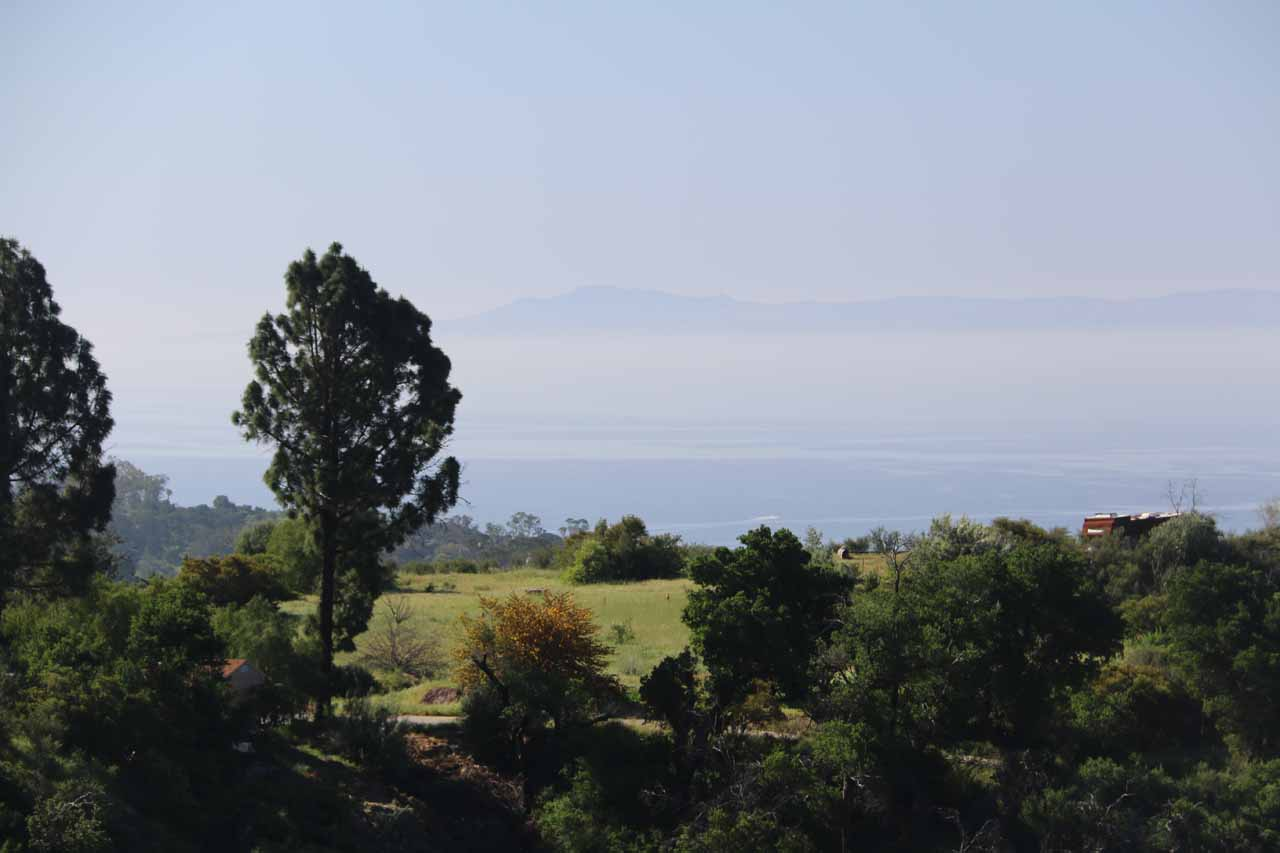 Looking far ahead towards the Channel Islands, which were offshore from the coastline at Santa Barbara