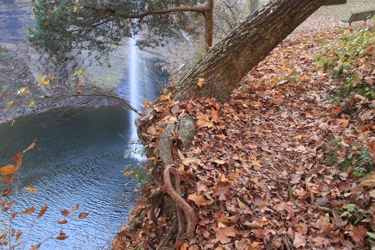 Seventy-Six Falls and the narrow ledge