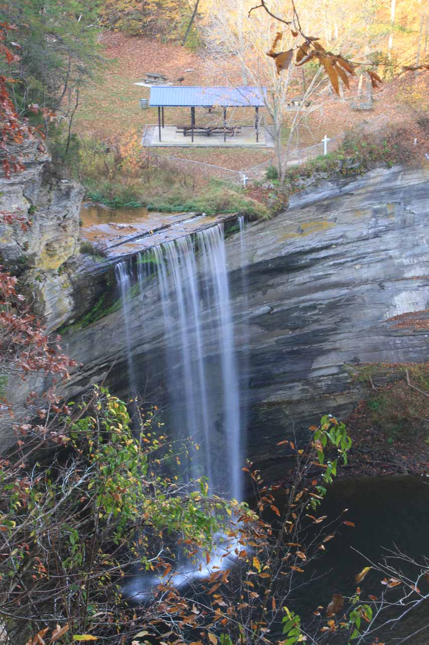 Seventy-Six Falls from the sanctioned overlook