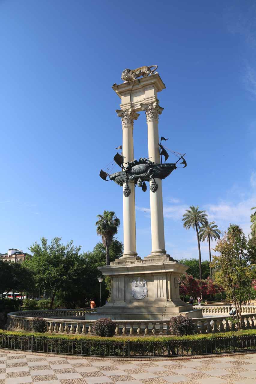 Monumento de Colon in the Jardines del Murrillo
