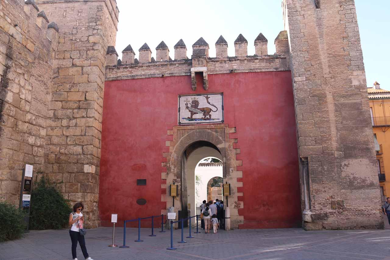 The entrance to the Real Alcazar de Sevilla