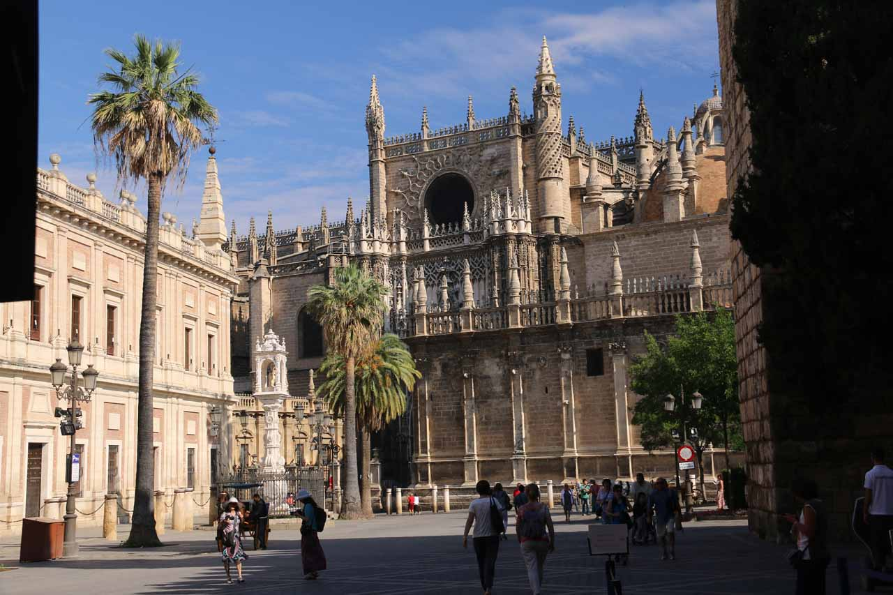 Another look back at the Catedral de Sevilla from the entrance to the Real Alcazar de Sevilla