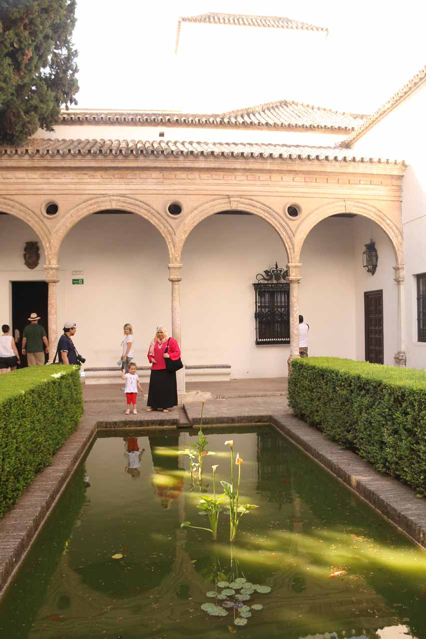 One of the attractive ponds seen in the complex of the Real Alcazar de Sevilla