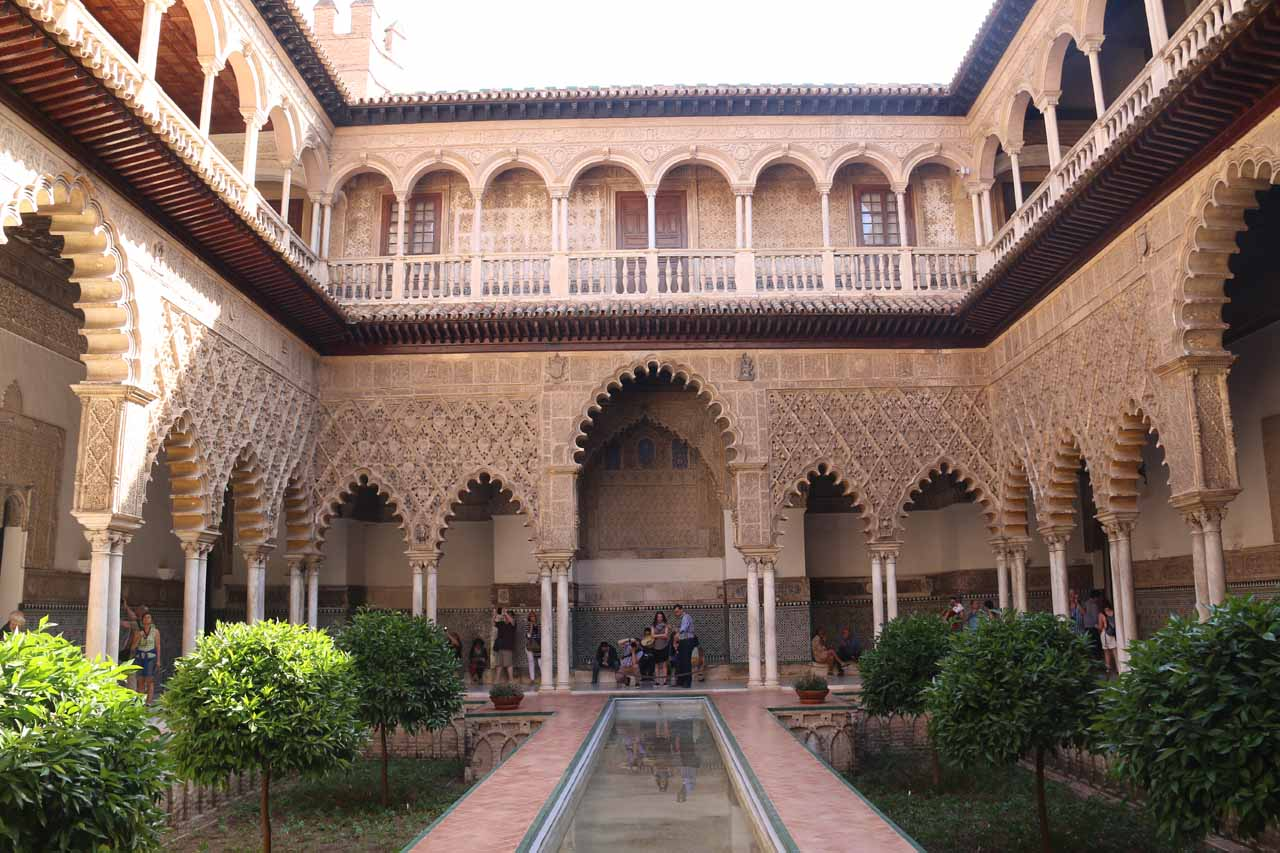 The Cascadas de Huesna were in the far north of the Sevilla Province about 1 hour and 45 minutes drive away from the city of Sevilla, where we were based so we could see things like the Real Alcázar
