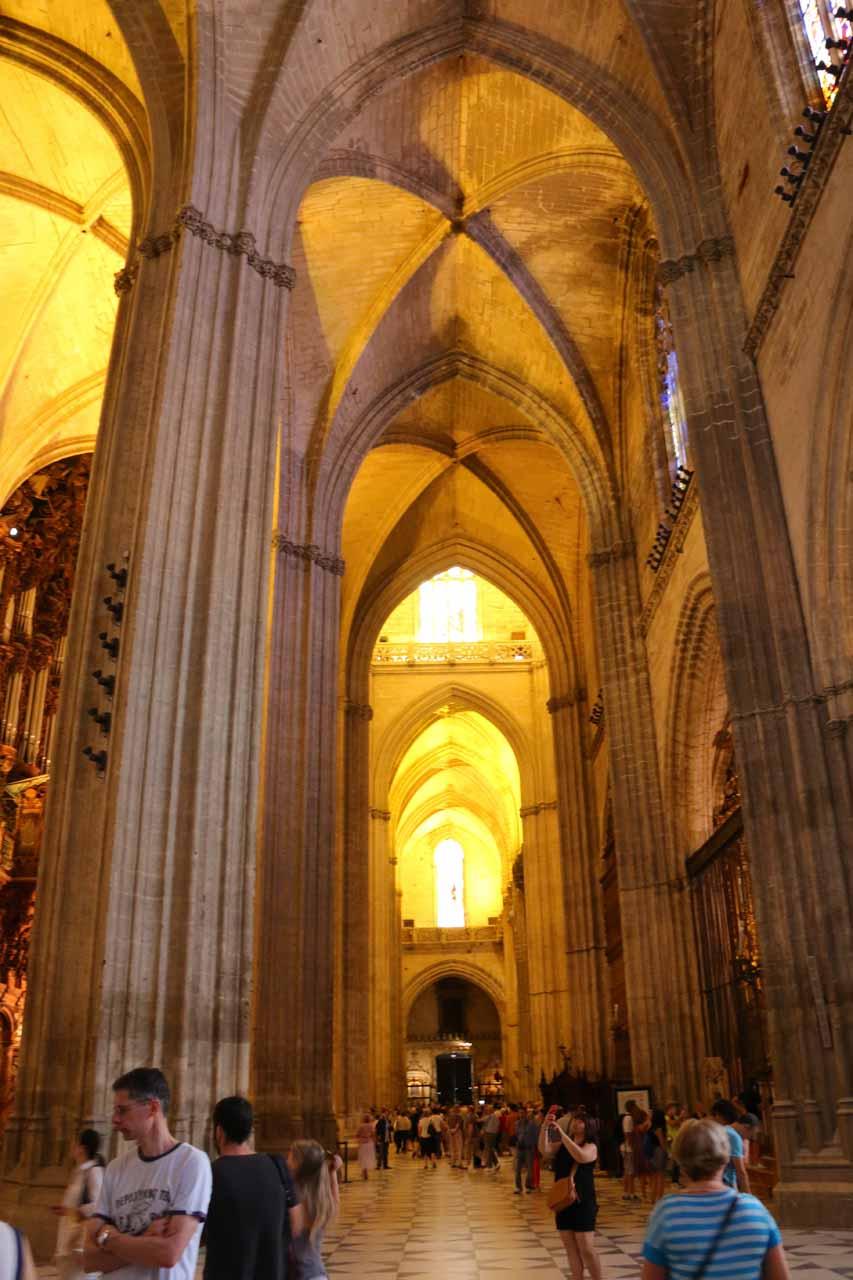 Still meandering about the grand Catedral de Sevilla