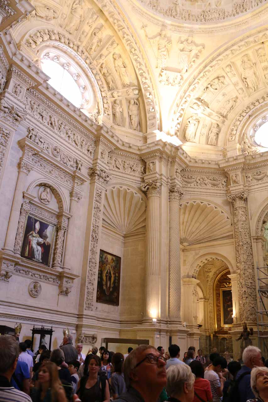 In another one of the elaborate rooms within the Sevilla Cathedral