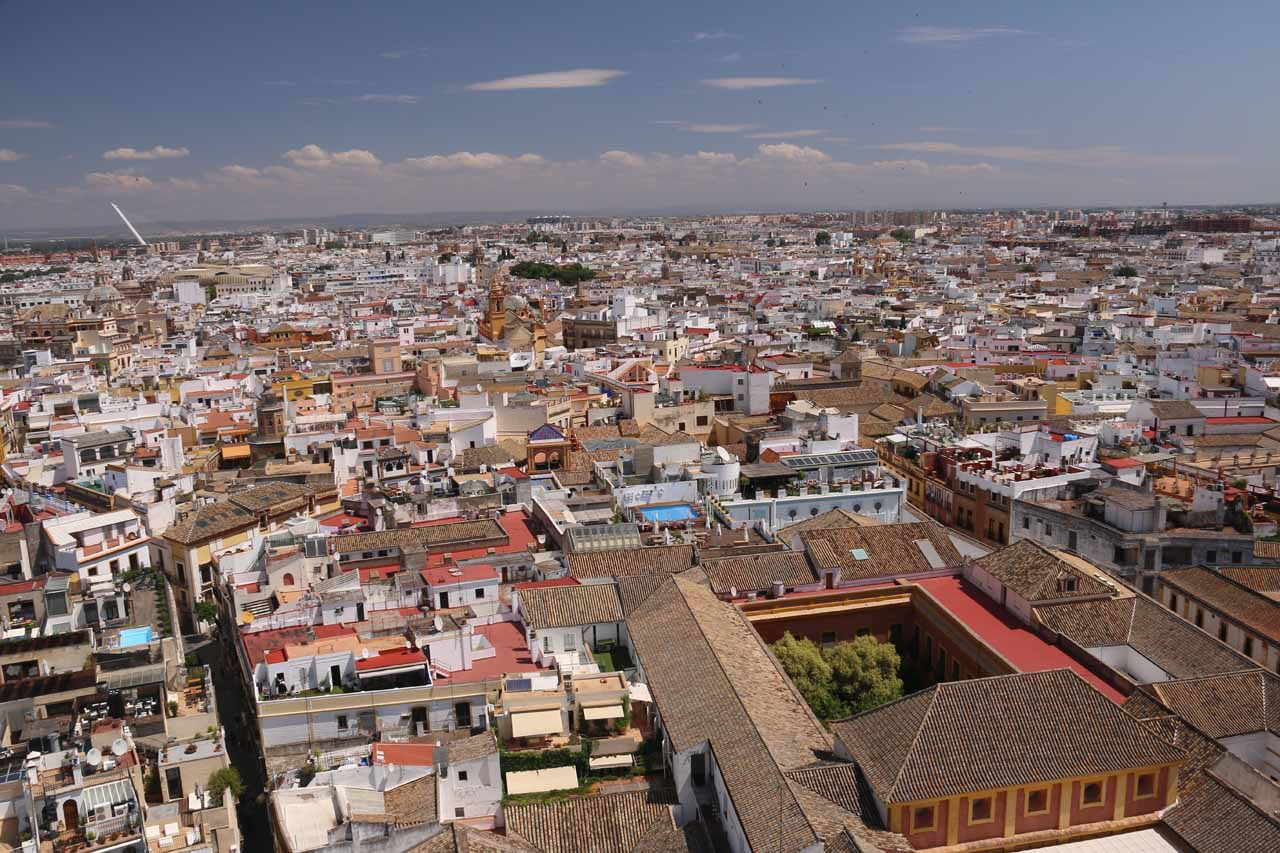 Panorama from looking out the Giralda Bell Tower