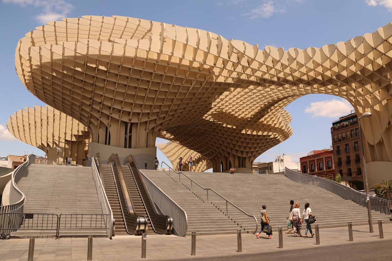 Sevilla was a beautiful Spanish city that was full of surprises, such as this unusual structure called the Parasol Metropol