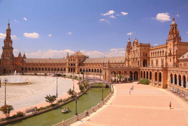 Sevilla_323_05252015 - Roughly two hours drive from Ronda was the beautiful and quintessentially Spanish city of Sevilla. Shown here is the grand Plaza de España, which very much reminded me of the Republic in Star Wars