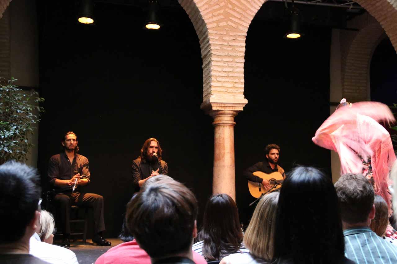 The flamenco performance at the Museo del Baile Flamenco in Sevilla