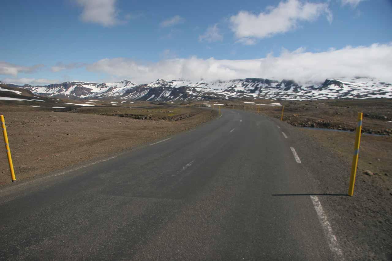 On the pass between Egilsstaðir and Seyðisfjörður