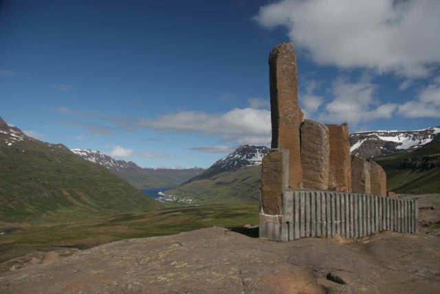 Seydisfjordur_025_07012007 - This was the Þorbjörn Arnoddsson monument when it was a roadside attraction along the Route 93 when we first were here in July 2007. When we came back in August 2021, this was no longer an easy roadside attraction