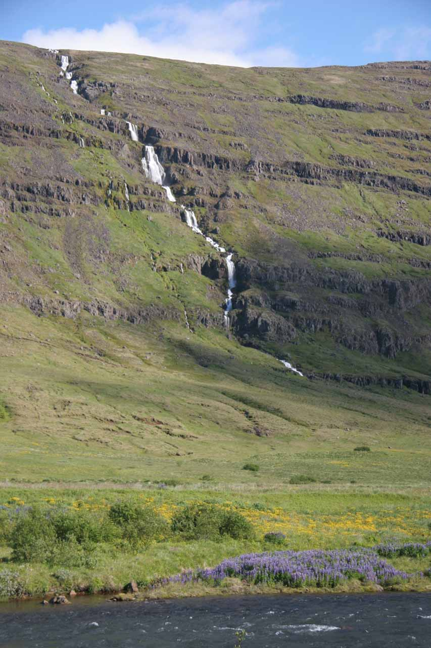 One of several waterfalls in Seyðisfjörður