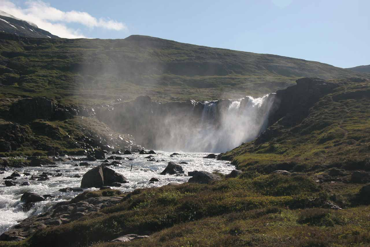 Distant look at the Upper Úðafoss