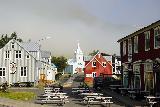 Seydisfjordur_055_08102021 - Looking back at the town church in Seydisfjordur