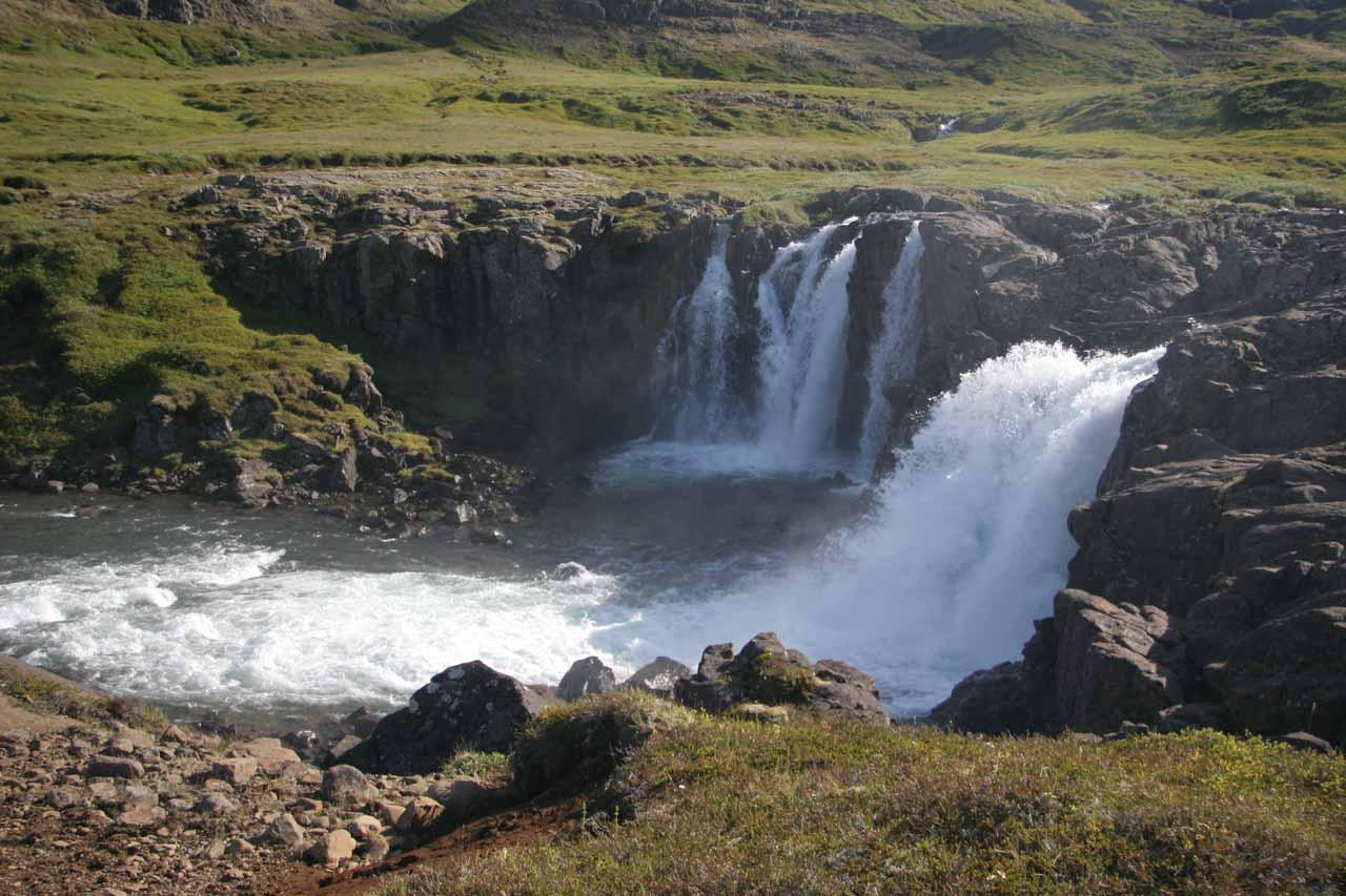 Focused on the Lower Úðafoss