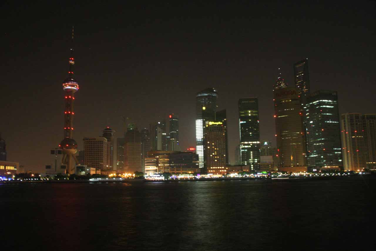 The Bund after the lights are mostly out