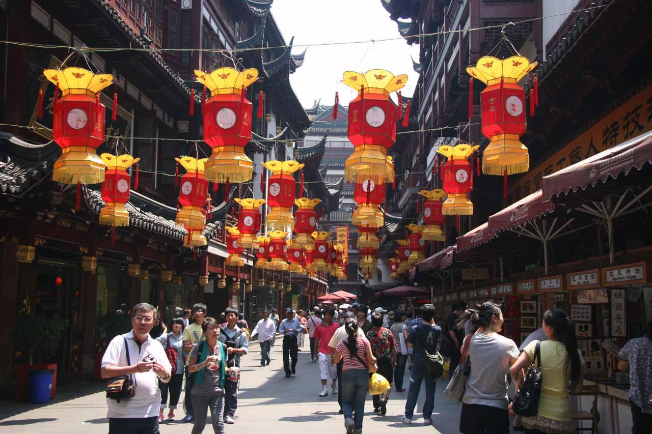 Walking around happening parts of Shanghai