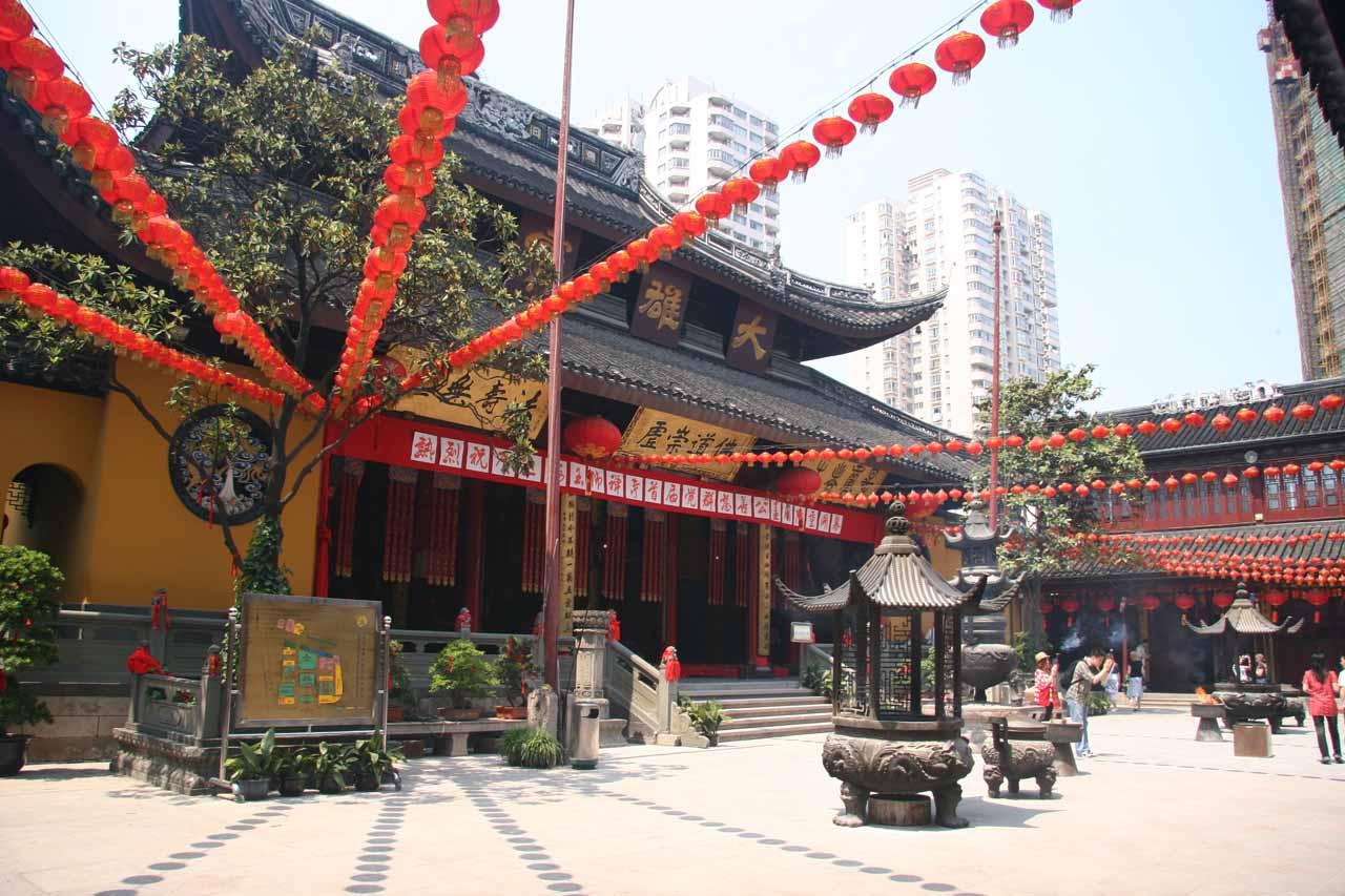 At the Jade Buddha Temple