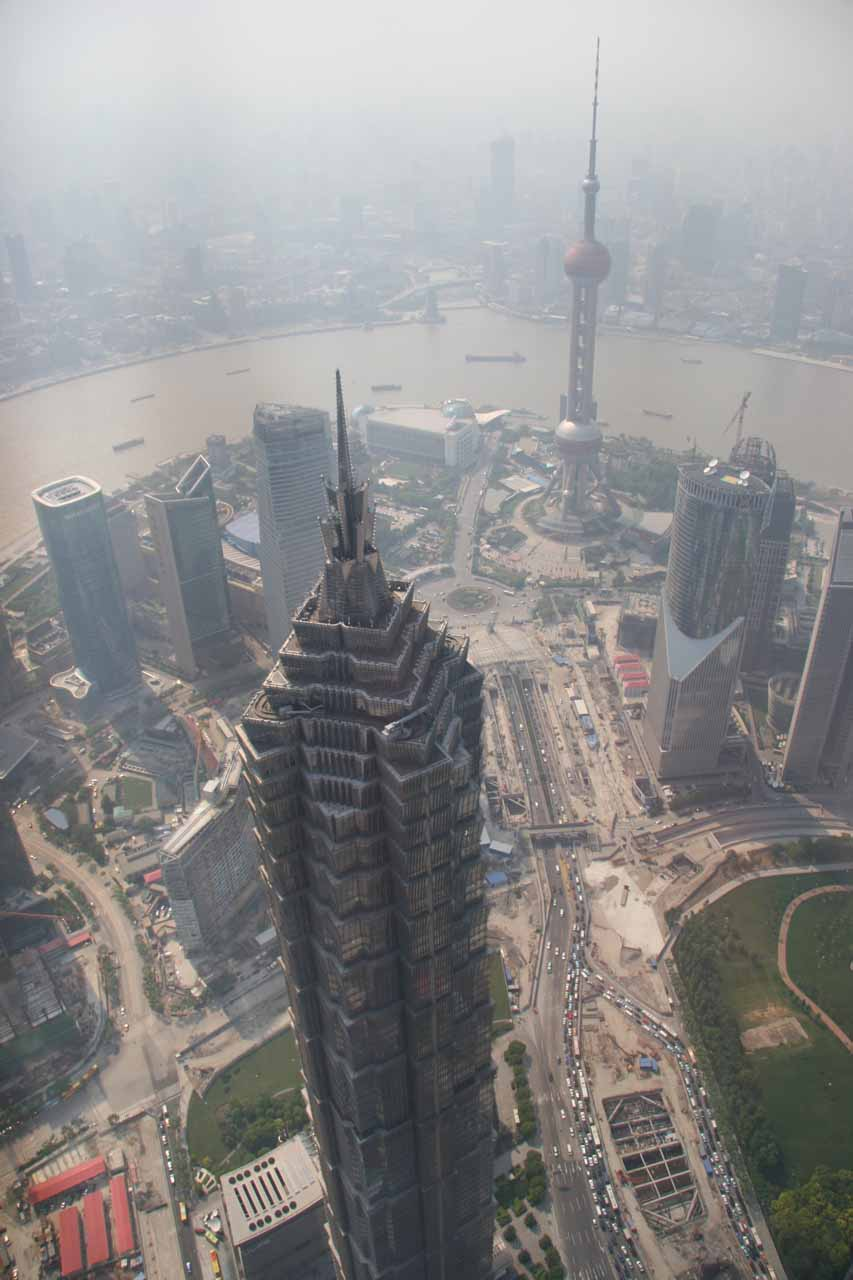 View of the Shanghai World Financial Center from the observatory