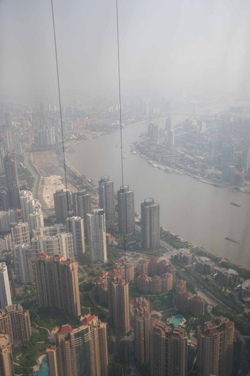 Looking out from the Shanghai World Financial Center Tower