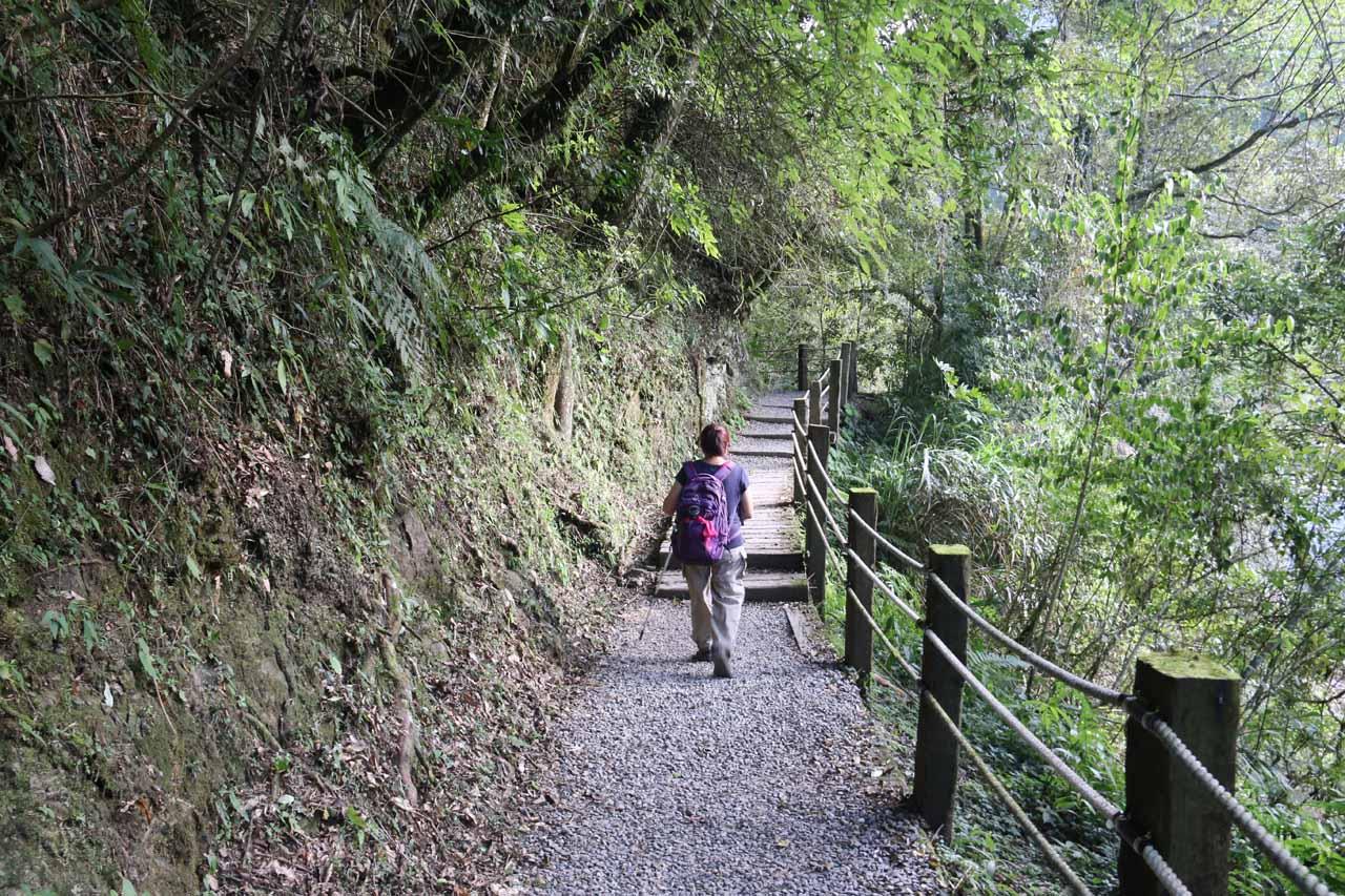 Now, we were hiking the Yueshan Trail