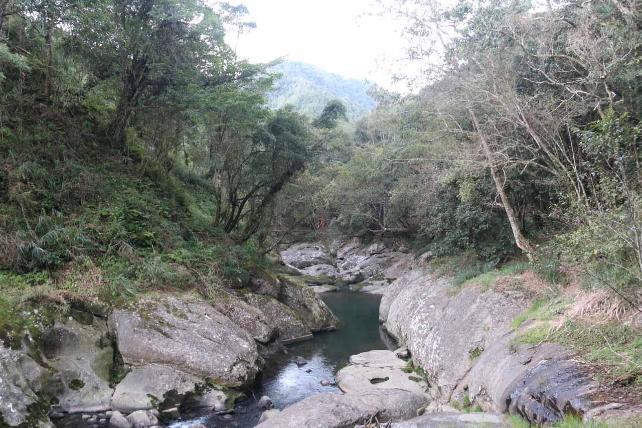 Looking downstream along the Jiazouliao Stream